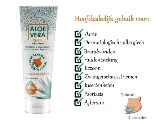 Aloë Vera gel (98%) met tea tree olie - 100 ml